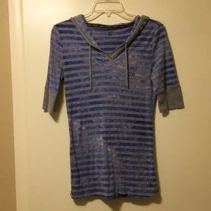 Calvin Klein Shirt with Hood- Excellent Condition